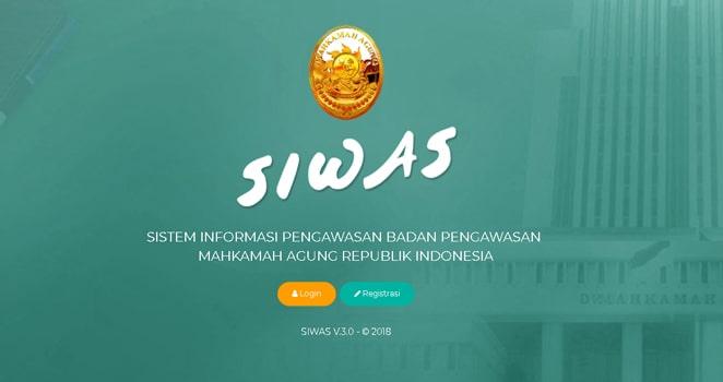 Sistem Informasi Pengawasan (SIWAS) Mahkamah Agung RI